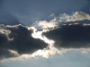 sun through clouds