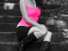 model-sitting-on-stairs-spot-color